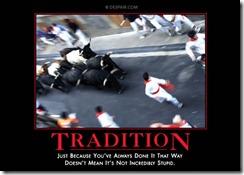 traditiondemotivationalposter